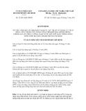 Quyết định số 52/2011/QĐ-UBND