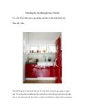 Giải pháp cho cho không gian hẹp: Căn bếp