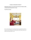 Giải pháp cho phòng khách chật (phần 2)