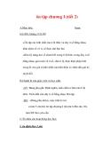 Giáo án môn Toán lớp 7 : Tên bài dạy : ôn tập chương I (tiết 2)
