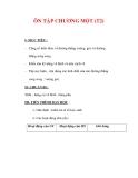 Giáo án môn Toán lớp 7 : Tên bài dạy : ÔN TẬP CHƯƠNG MỘT (T2)