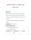 Giáo án môn Toán lớp 7 : Tên bài dạy : TỔNG BA GÓC CỦA MỘT TAM GIÁC (T2)