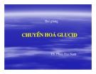 Bài giảng chuyển hóa các chất - Chuyển hóa Glucid part 1