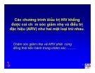 Bài giảng điều trị HIV - Chăm sóc giảm nhẹ cho bệnh nhân HIV/AIDS  part 2