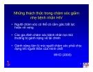 Bài giảng điều trị HIV - Chăm sóc giảm nhẹ cho bệnh nhân HIV/AIDS  part 3