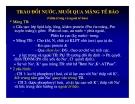 Bài giảng sinh hóa - Tr4o đổi muối và nước part 4