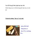 Tự chế bảng gỗ nhỏ giúp bạn học bà
