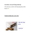 Furoshiki: Cách gói đồ dạng hình hộp