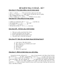 ĐỀ KIỂM TRA CUỐI KÌ – SỐ 7