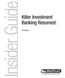 Insider GuideKiller Investment Banking Resumes 2nd phần 1