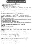 Đề ôn thi toán học kì lớp 12