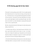 10 lỗi thường gặp khi kê đơn thuốc
