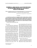 """Báo cáo khoa học: """"ảnh hưởng của a-naphtyl axetic axit (a-naa) và chlor cholin chlorit (ccc) đến sinh tr-ởng và năng suất lạc (Arachis hypogaea L.) trên đất cát ở Thừa Thiên Huế"""""""