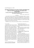 """Báo cáo khoa học: """"quá trình chuyển dịch cơ cấu kinh tế nông lâm nghiệp và sử dụng các nguồn lực sản xuất của huyện Kỳ Sơn tỉnh hoà bình"""""""