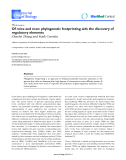 """Báo cáo sinh học: """"Of mice and men: phylogenetic footprinting aids the discovery of regulatory elements."""""""