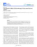 """Báo cáo sinh học: """"The long term effects of chemotherapy on the central nervous system"""""""