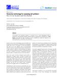 "Báo cáo sinh học: ""Genomics technology for assessing soil pollutio"""