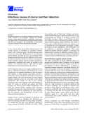"""Báo cáo sinh học: """" Infectious causes of cancer and their detection"""""""