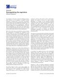 "Báo cáo sinh học: "" Dysregulating the regulators"""