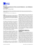 """Báo cáo sinh học: """"The gene complement of the ancestral bilaterian - was Urbilateria a monster"""""""