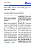 """Báo cáo sinh học: """"he water flea Daphnia - a 'new' model system for ecology and evolution"""""""