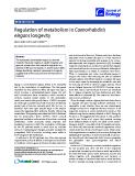 "Báo cáo sinh học: ""Regulation of metabolism in Caenorhabditis elegans longevity"""