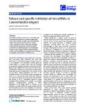 "Báo cáo sinh học: ""Robust and specific inhibition of microRNAs in Caenorhabditis elegans"""
