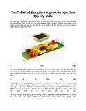 Top 7 thực phẩm giúp vòng eo của bạn thon đẹp mỹ miều