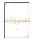 Đề tài: Đánh giá thực trạng triển khai Đánh giá thự trạ triể BHYT HS - SV tại cơ quan Bảo hiểm xã hội Việt Nam