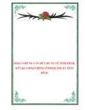 Phần I NHỮNG VẤN ĐỀ CHUNG VỀ TÌNH HÌNH, KẾT QUẢ HOẠT ĐỘNG Ở BHXH THỊ XÃ THÁI BÌNH