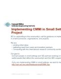 CMMI in Small company PHẦN 2