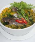 Bông điên điển nấu cá rô và lá me non