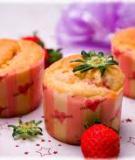 Bánh cupcake dâu sữa cho bé