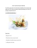 Cá lóc cuộn nấm nướng sốt chanh dây