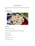 Cuộn sushi bằng bánh mỳ