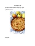 Món bánh táo sữa chua