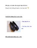 Đôi giày vải xinh xắn từ giày búp bê đã cũ
