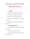 Giáo án Công nghệ lớp 7 : Tên bài dạy : GIEO HẠT VÀ CHĂM SÓC VƯỜN GIEO ƯƠM CÂY RỪNG