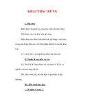 Giáo án Công nghệ lớp 7 : Tên bài dạy : KHAI THÁC RỪNG