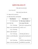 Giáo án Công dân lớp 7 : Tên bài dạy : KIỂM TRA BÀI CŨ