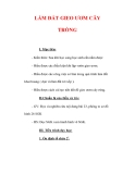 Giáo án Công nghệ lớp 7 : Tên bài dạy : LÀM ĐẤT GIEO ƯƠM CÂY TRỒNG