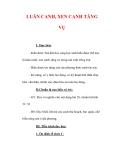 Giáo án Công nghệ lớp 7 : Tên bài dạy : LUÂN CANH, XEN CANH TĂNG VỤ