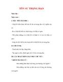 Giáo án Công dân lớp 7 : Tên bài dạy : TÔN SƯ TRỌNG ĐẠO