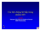 Bài giảng điều trị HIV : Các hội chứng hô hấp trong nhiễm HIV part 1