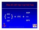 Bài giảng điều trị HIV : Thuốc kháng retrovirus -  Liều dùng và tác dụng phụ part 2