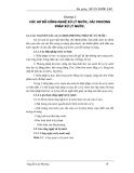 Bài giảng : XỬ LÝ NƯỚC CẤP - CÁC SƠ ĐỒ CÔNG NGHỆ XỬ LÝ NƯỚC, CÁC PHƯƠNG PHÁP XỬ LÝ NƯỚC part 1