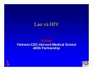 Bài giảng điều trị HIV : Lao và HIV part 1