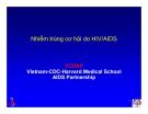 Bài giảng điều trị HIV : Nhiễm trùng cơ hội do HIV/AIDS part 1