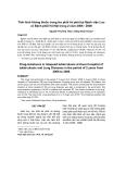 """Báo cáo y học: """"Tình hình kháng thuốc trong lao phổi tái phát tại Bệnh viện Lao và Bệnh phổi Hà Nội trong 2 năm 2006 - 2008"""""""