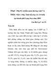 """Báo cáo y học: """"THựC TRạNG nhiễm giun đường ruột Và THIếU MáU ở Học Sinh tiểu học (6 -14 tuổi) tại thành phố Lạng Sơn năm 2005"""""""